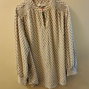 Loft blouse with button details